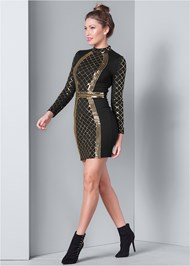 Alternate View Sequin Bodycon Dress