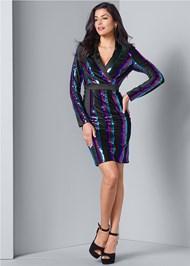 Alternate View Sequin Blazer Dress