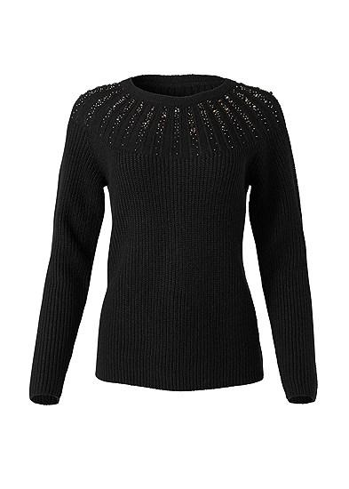 Plus Size Embellished Sweater