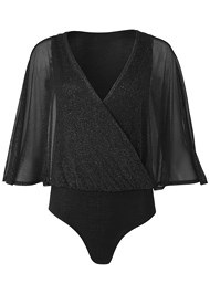 Alternate View Surplice Shimmer Bodysuit