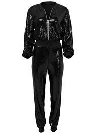 Alternate View Sequin Jogger Jumpsuit