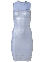 Alternate View Bandage Metallic Dress