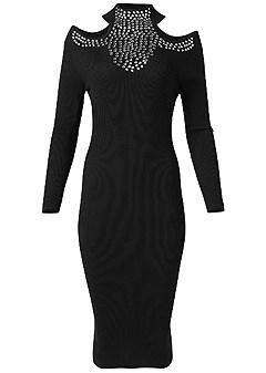 plus size embellished sweater dress