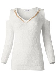 Alternate View Cold Shoulder Cozy Sweater