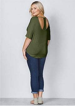 plus size racerback basic top