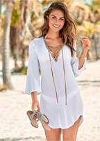 roman cover-up beach dress