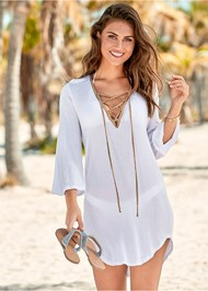 Front View Roman Cover-Up Beach Dress