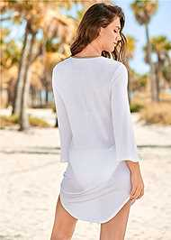 Back View Roman Cover-Up Beach Dress