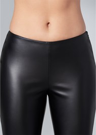 Detail  view Faux Leather Leggings