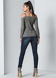 Back View Cold Shoulder Casual Top