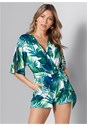 Front View Palm Print Romper