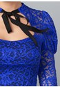 Alternate View Tie Neck Lace Top