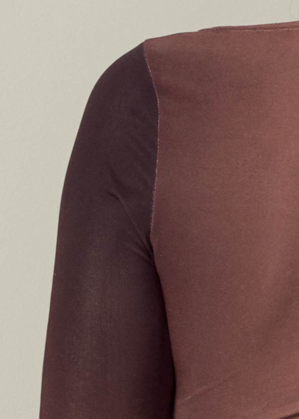 Alternate View Ruched Ombre Top