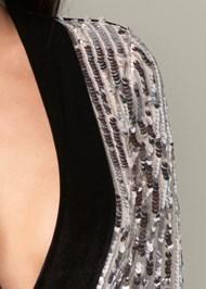 Alternate View Sequin Velvet Jumpsuit