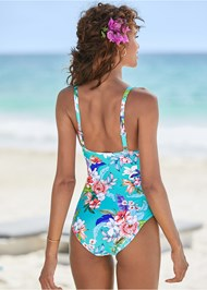Back View Cut Out One-Piece