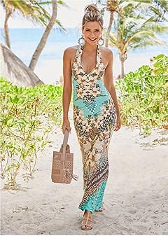 e7053eac694 printed maxi dress