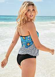 Back View Tie Side Blouson Tankini Top
