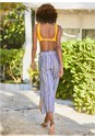 Cropped back view Wide Leg Beach Pants