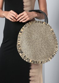 Alternate View Circular Straw Bag