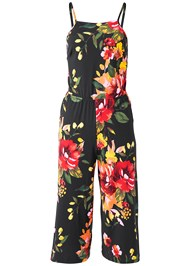 Alternate View Lace Up Floral Jumpsuit