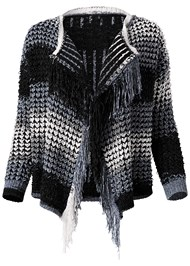 Alternate View Fringe Chenille Cardigan