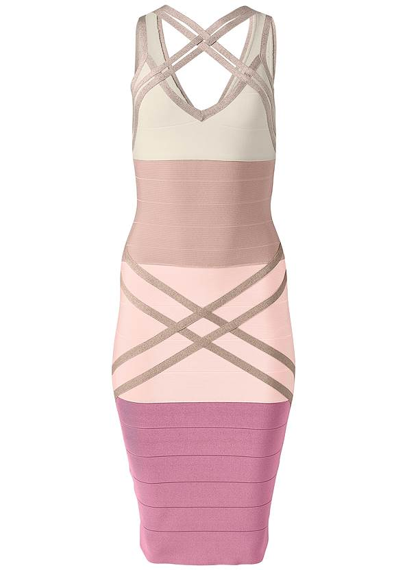 Ghost with background  view Bandage Color Block Dress