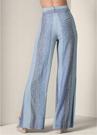 Back View Tie Front Linen Pants