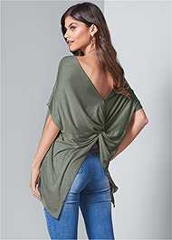Front View Twist Back Top