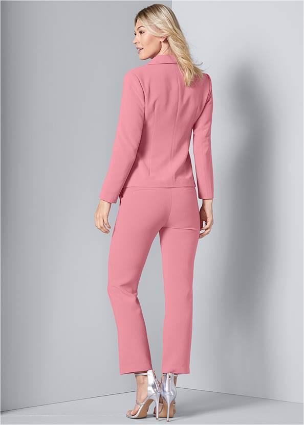 Back View Asymmetrical Suit Set