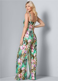 Back View Mixed Print Jumpsuit