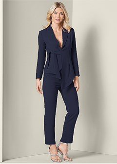 asymmetrical suit set