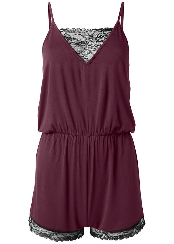 Ghost with background  view Lace Detail Sleep Romper