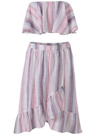 Ghost  view Striped Skirt Set