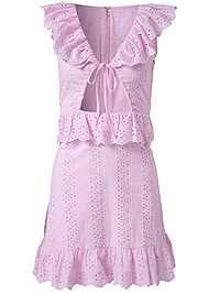 Alternate View Tie Front Eyelet Dress