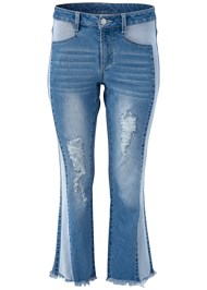 Alternate View Two Toned Distressed Jeans