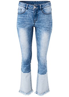plus size two toned jeans
