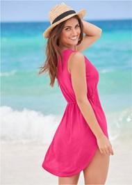 Back View Deep V Cover-Up Beach Dress