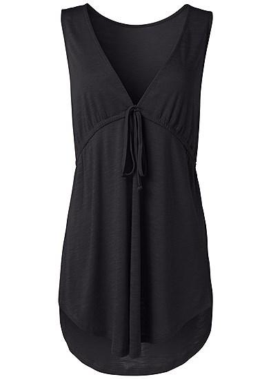 Plus Size Deep V Cover-Up Beach Dress