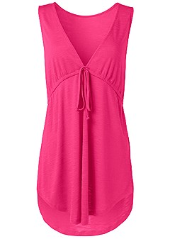 plus size deep v cover-up beach dress