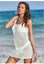 Front View Crochet Strappy Cover-Up