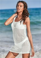 crochet strappy cover-up