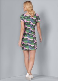 Back View Tie Front Lounge Dress