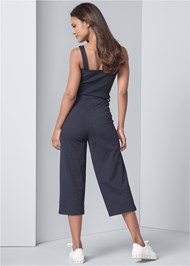 Back View Culotte Lounge Jumpsuit