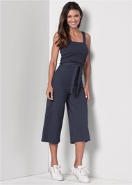 Front View Culotte Lounge Jumpsuit