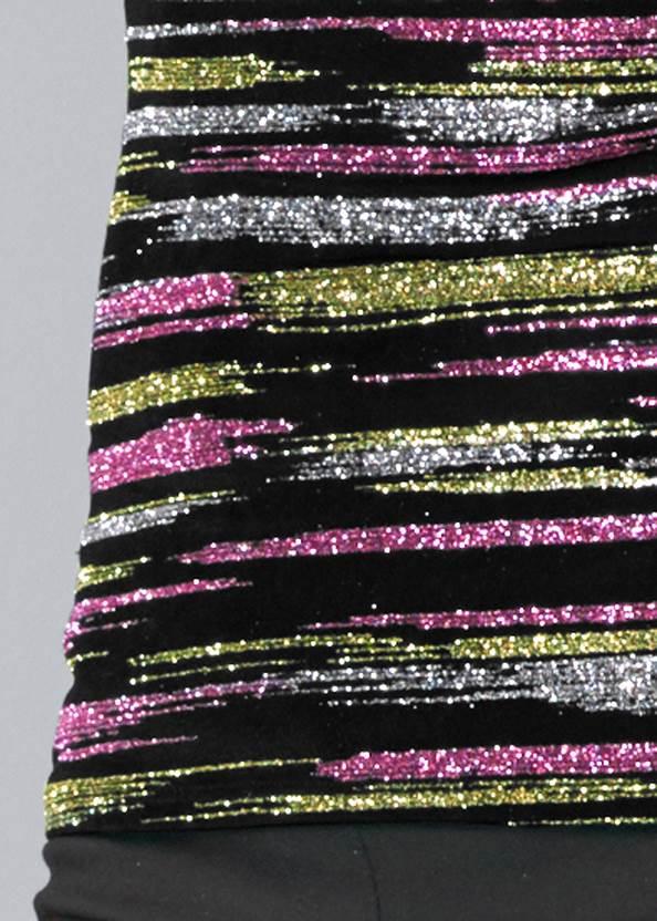 Alternate View Glitter Mesh Top