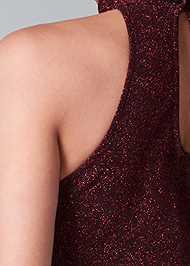 Alternate View High Slit Glitter Dress