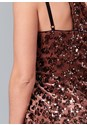 Alternate View Sequin One Shoulder Dress
