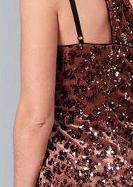 Alternate View Sequin One Shoulder Dress