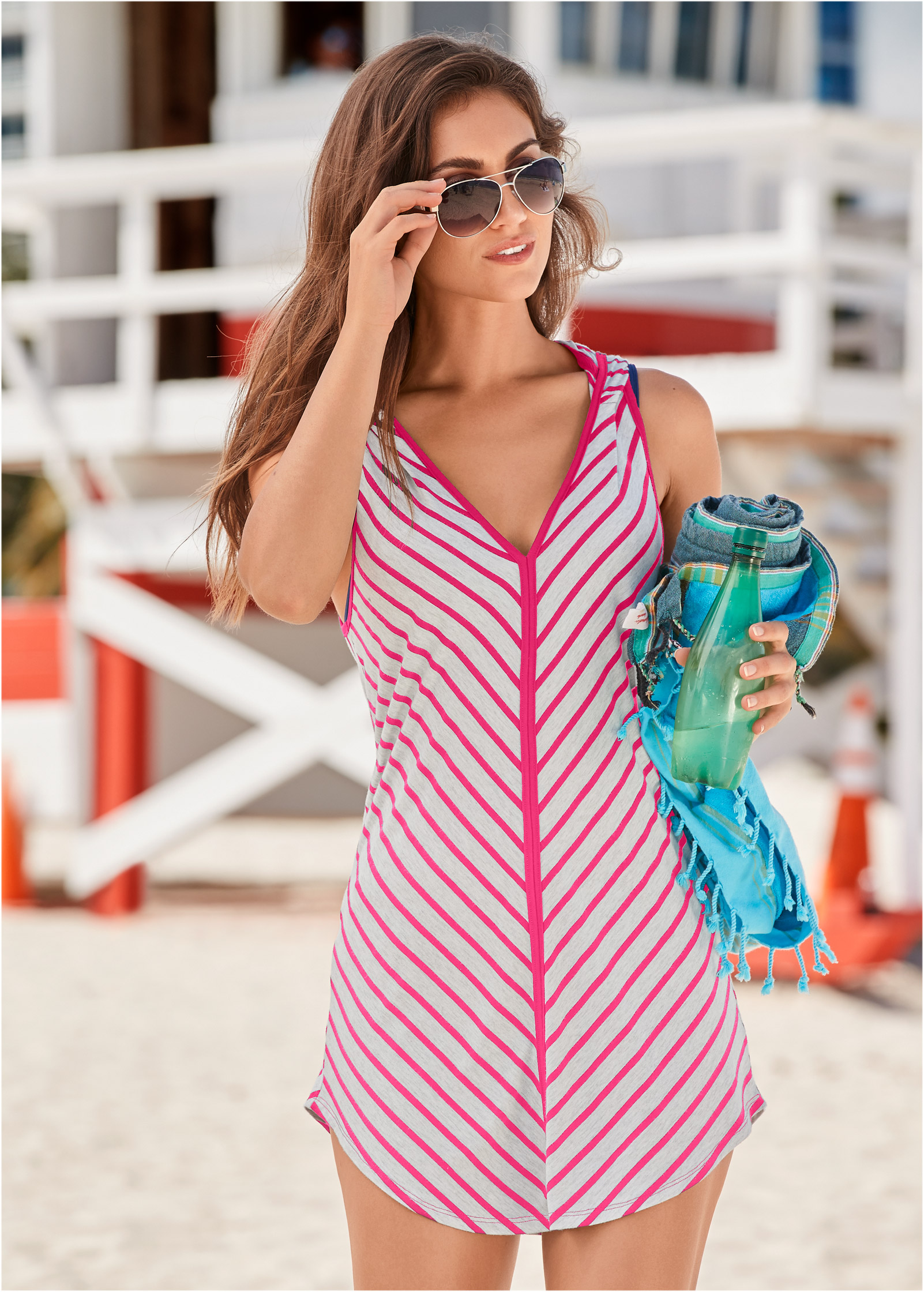 Custom Pattern Plus Size Braided Dress Swimsuit Cover Up for Women