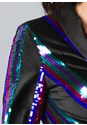 Alternate View Sequin Blazer Dress